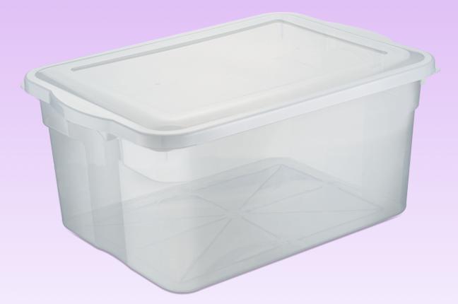Caixas plásticas para Organização do Salão