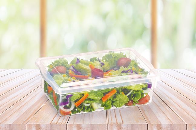 dieta com ajuda de potes plásticos
