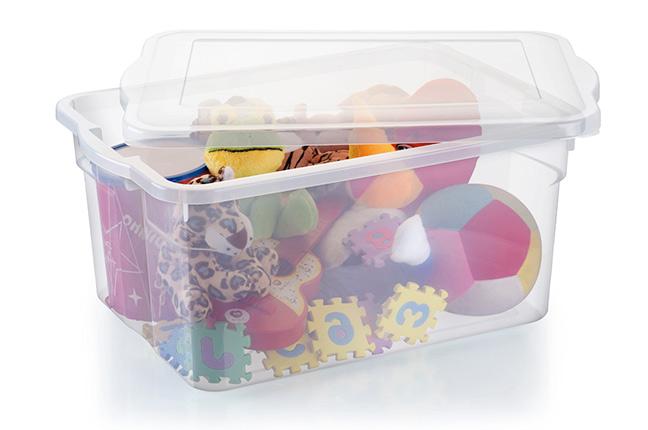 Caixas Plásticas Organizar Material Escolar (2)