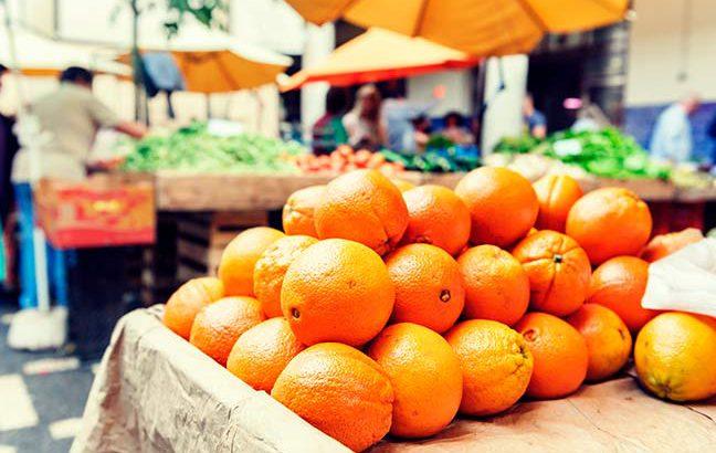 Guardando e preservando alimentos da feira