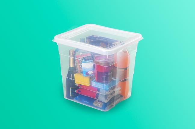 Caixa Plástica para organizar armários