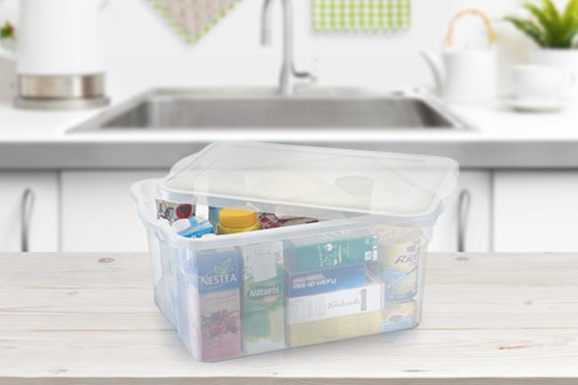 Organize o que quiser com potes plásticos